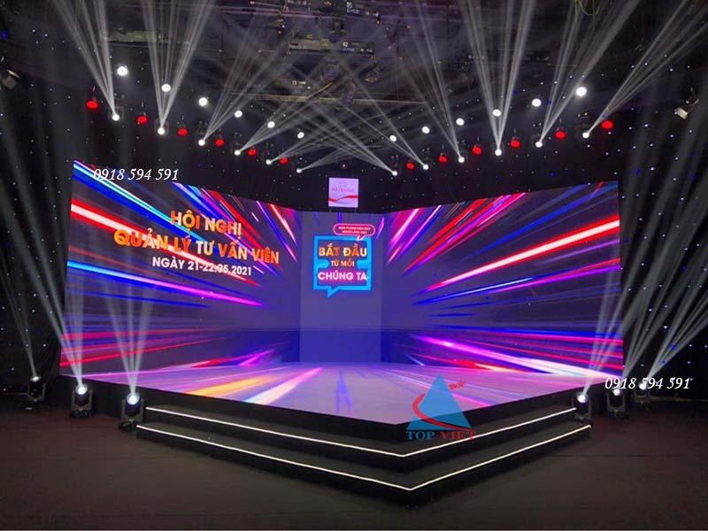 Thi công lắp đặt sân khấu sàn LED cường lực