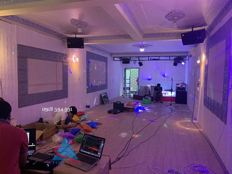 setup âm thanh cho phòng hát với nhau
