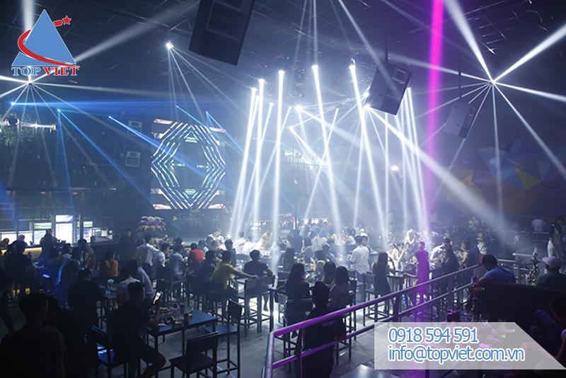 Thi công lắp đặt âm thanh ánh sáng Bar Club Vũ Trường